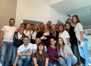 Foto di gruppo di Manuela Misino con team Sit